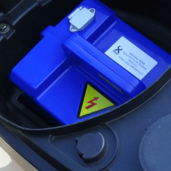Blue Electric Moped Battery