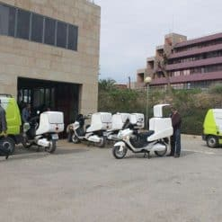 Fleet Of Electric Motorbikes Cargo