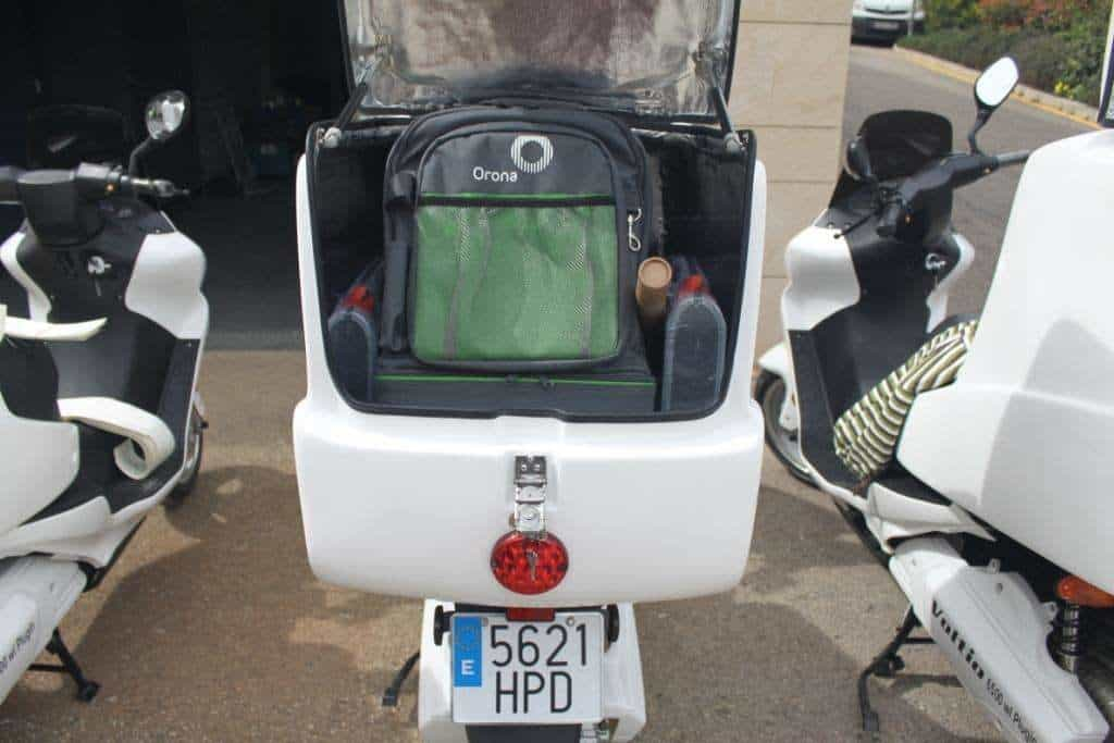 Open Cargo Box Electric Motorbike