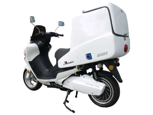 Back Of Cargo Electric Motorbike