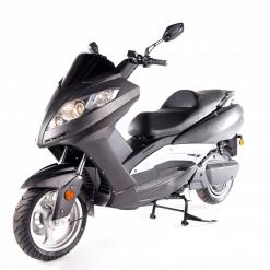 Black Electric Motorbike