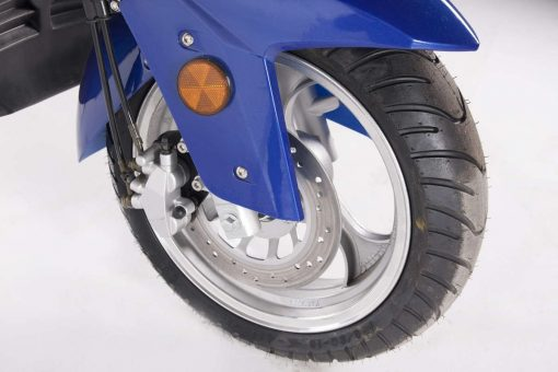 Wheel Of Blue Electric Motorbike