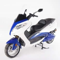 White And Blue Electric Motorbike