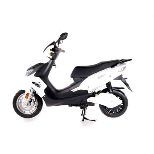 Side View Of Electric Motorbike