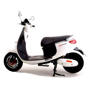Side View Of White Electric Bike