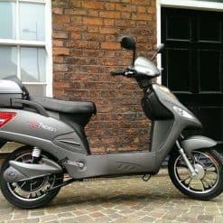 Grey Electric Bike Outside