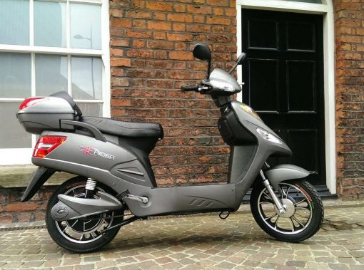 Grey Electric Bike Outside