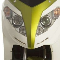Front Of Green And White Electric Motorbike