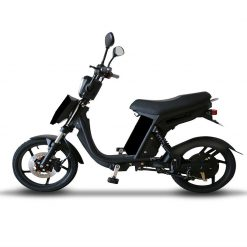 Side View Of Black Electric Bike