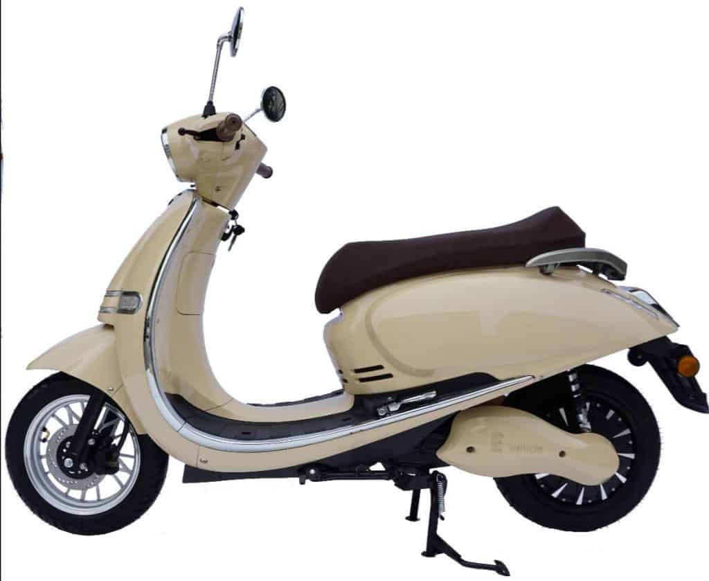 Side View Of Electric moped roma