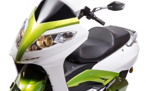Green And White Electric Motorbike