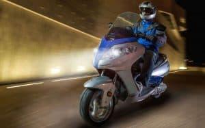 Man Riding Electric Motorbike
