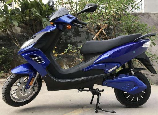Black And Blue Electric Motorbike