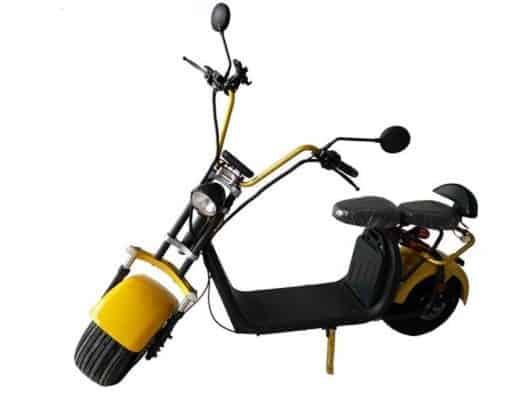 Yellow And Black Electric Moped