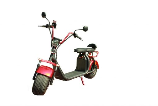 Red and Black Electric moped